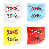 Stick note 2015 2016 Royalty Free Stock Photo