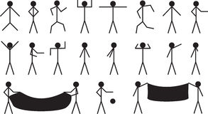 Stick people Stock Photography