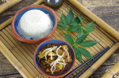 Stick and rice Royalty Free Stock Photo