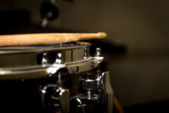 stick on a snare drum stock illustration