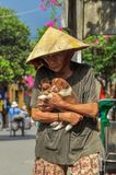 Stick together and help each other in difficulties,Hui An, Vietnam royalty free stock image