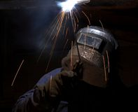Stick welder Royalty Free Stock Photography