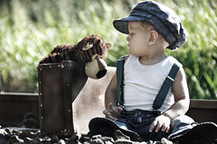 Stick With Me Kid & You Will Go Places. Royalty Free Stock Photo