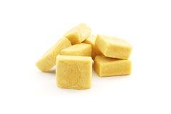 Stick of yellow bouillon cube Royalty Free Stock Image