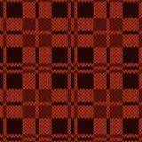 Sticka den sömlösa modellen i olika röda och bruna toner Royaltyfri Fotografi