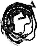 sticka drake dess egen svan Arkivfoto