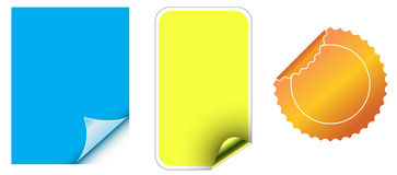 Sticker. Three types of stickers designed by illustrator Royalty Free Stock Photography