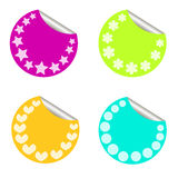 Sticker. Various different coloured and shapes stickers Vector Illustration