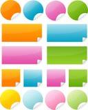 Sticker. Postit post-it sticker vector button Royalty Free Stock Photos