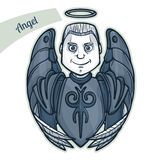 Sticker Angel Royalty Free Stock Photo