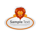 Sticker with animal design - lion Royalty Free Stock Images