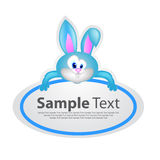 Sticker with animal design - rabbit Royalty Free Stock Photo