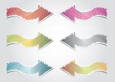 Sticker Arrows. Sticker cartoon arrows illustration, webdesign theme stock illustration
