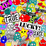 Sticker art Royalty Free Stock Images