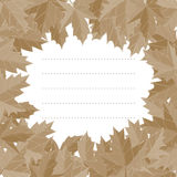 Sticker autumn style. Falling leaves vector. Greeting card vector. Space for text. Photo album. Sticker autumn style. Falling leaves vector. Greeting card Stock Image