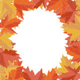 Sticker autumn style. Falling leaves vector. Greeting card vector. Space for text. Photo album. Stock Photos