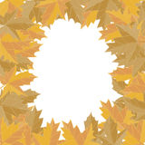Sticker autumn style. Yellow falling leaves vector. Greeting card vector. Space for text. Photo album. Royalty Free Stock Image