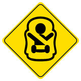 Sticker Baby on board. Royalty Free Stock Images