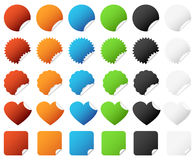 Sticker Badge Set Vector. A set of colorful sticker badge with different type of design Stock Photos