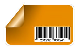 Sticker with bar codes Royalty Free Stock Photography
