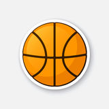 Sticker basketball ball Royalty Free Stock Photos