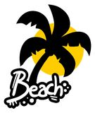 Sticker beach Royalty Free Stock Image