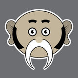 Sticker - beige ridiculous man with black mustache Stock Photo