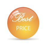 Sticker best price. Sale. Glossy mirror button Royalty Free Stock Photography