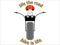 Sticker biker T-shirt picture illustration chopper road  bike vtcnjr royalty free illustration