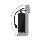 Sticker black silhouette fire extinguisher icon Royalty Free Stock Photo
