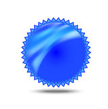 Sticker of blue color, for a design Stock Photo