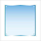 Sticker blue glass vector isolated object. Frame sticker blue glass. Vector, isolated object on white background Stock Photos
