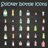 Sticker bottle icons Stock Image