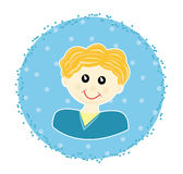Sticker with boy Stock Images