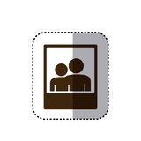 sticker brown silhouette frame photography couple people icon Royalty Free Stock Photos