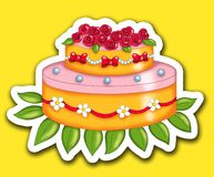 Sticker cake Stock Photo