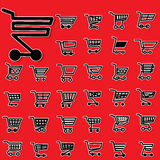 Sticker cart icons Royalty Free Stock Photo