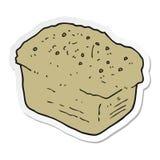 Sticker of a cartoon bread. A creative illustrated sticker of a cartoon bread stock illustration