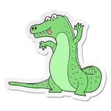 Sticker of a cartoon crocodile. A creative illustrated sticker of a cartoon crocodile stock illustration