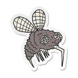 Sticker of a cartoon fly. A creative illustrated sticker of a cartoon fly vector illustration