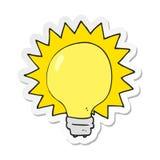 Sticker of a cartoon light bulb. A creative sticker of a cartoon light bulb vector illustration