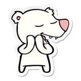 Sticker of a cartoon polar bear. Illustrated sticker of a cartoon polar bear royalty free illustration