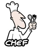 Sticker chef Royalty Free Stock Images