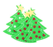Sticker Christmas tree Royalty Free Stock Photos