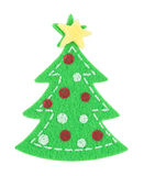 Sticker Christmas tree Stock Photography