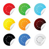 Sticker circle color vector Royalty Free Stock Image