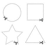 Sticker of circle and triangle vector Stock Photos