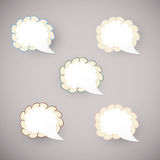 Sticker cloud - vector blank Stock Image