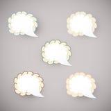 Sticker cloud - vector blank. Sticker cloud - blank. Vintage style stock illustration