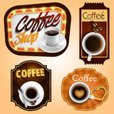 Sticker coffee Royalty Free Stock Photography